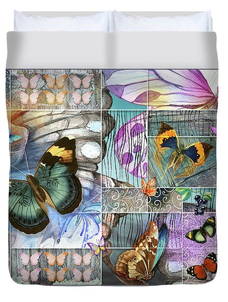 Butterfly Wings Collage Duvet Cover