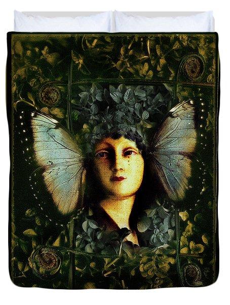 Butterfly Woman Duvet Cover