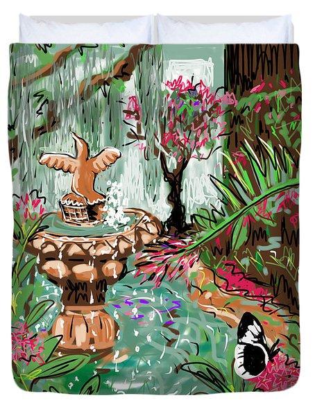 Butterfly World Duvet Cover