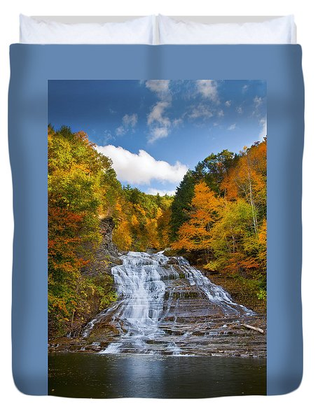 Buttermilk Falls 2 Duvet Cover by Mark Papke
