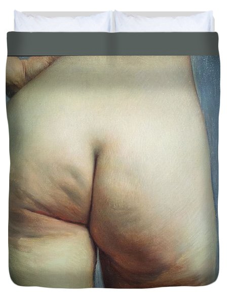 Buttocks And Left Hand On Hip Duvet Cover by Felix Vallotton