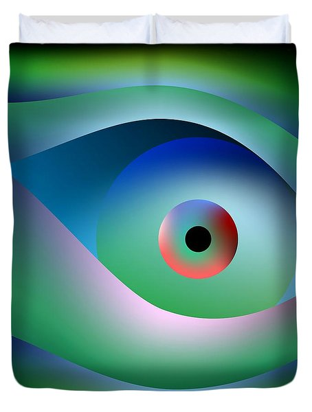 Button To Fantasy Duvet Cover by Leo Symon