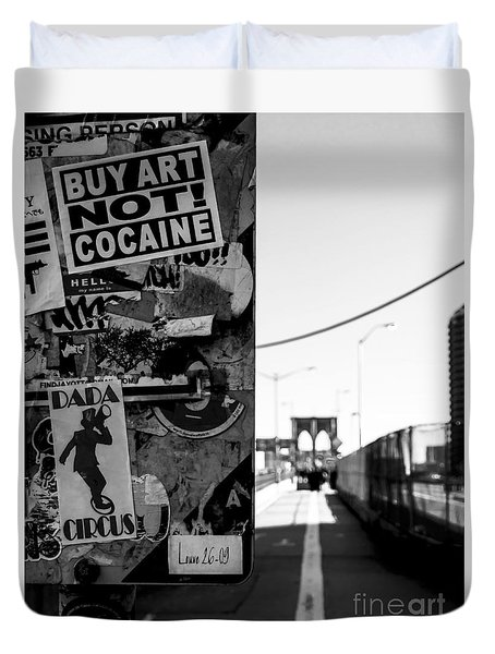 Buy Art Not Cocaine Duvet Cover by James Aiken