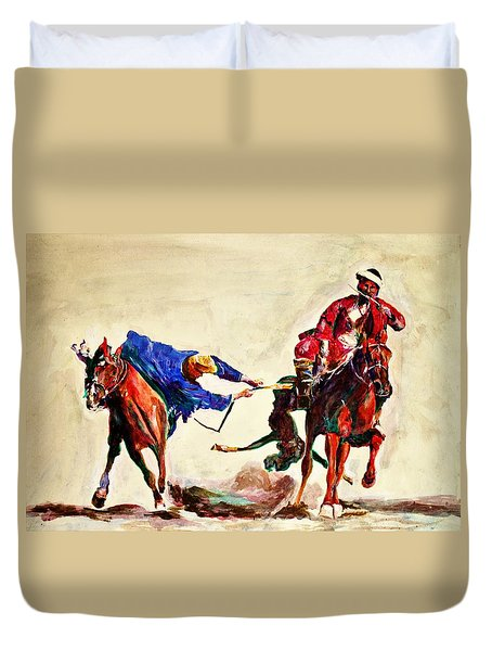 Buzkashi, A Power Game Duvet Cover
