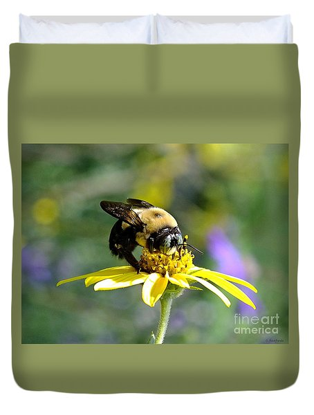 Buzzing By Duvet Cover