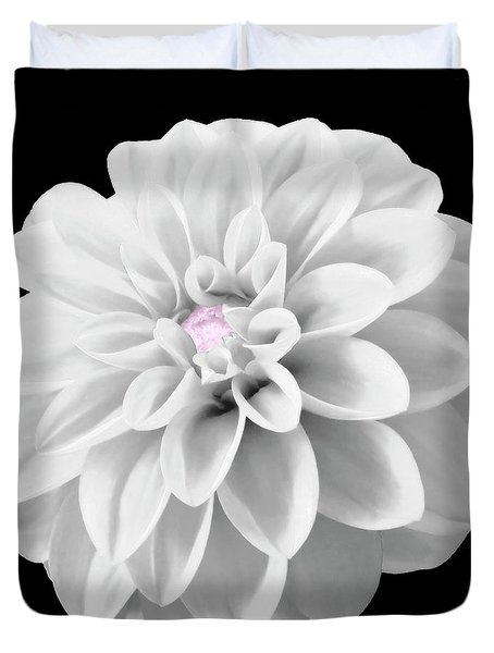 Bw Dahlia And Touch Of Pink Duvet Cover