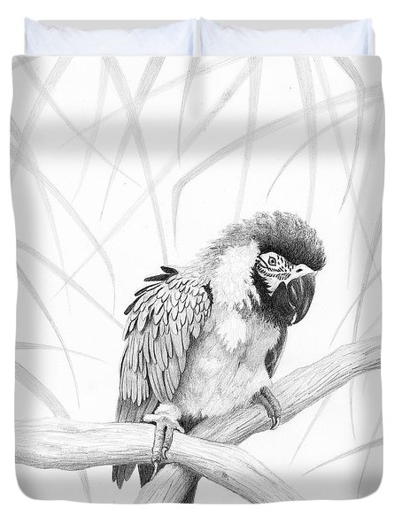 Bw Parrot Duvet Cover by Phyllis Howard