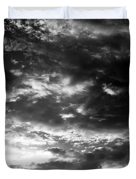 Duvet Cover featuring the photograph Bw Sky by Eric Christopher Jackson