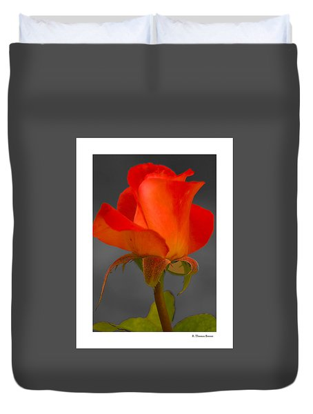 Duvet Cover featuring the photograph By Any Other Name by R Thomas Berner