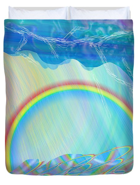 By Day And By Rain Duvet Cover
