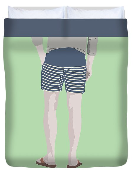 By The Bay Duvet Cover by Nicole Wilson