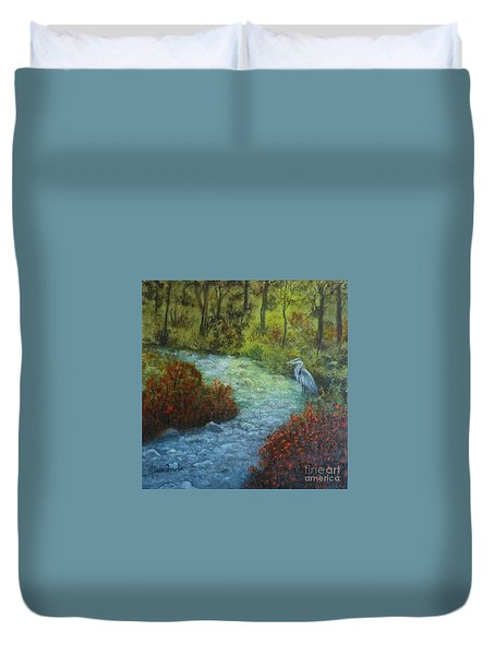 By The Brook Duvet Cover