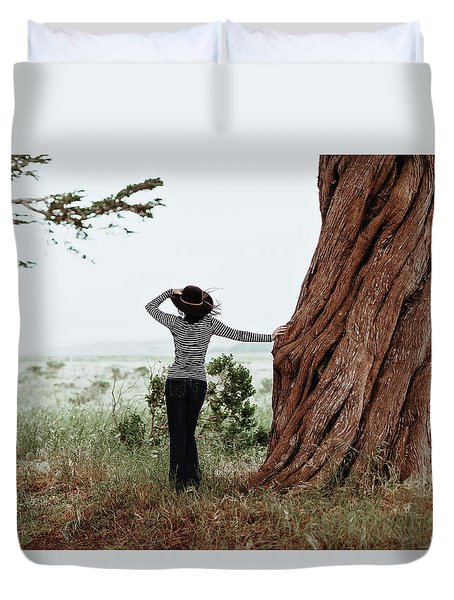 By The Cypress Duvet Cover