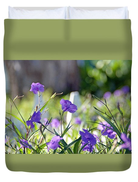 By The Fence Duvet Cover
