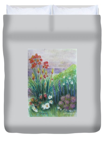 By The Garden Wall Duvet Cover