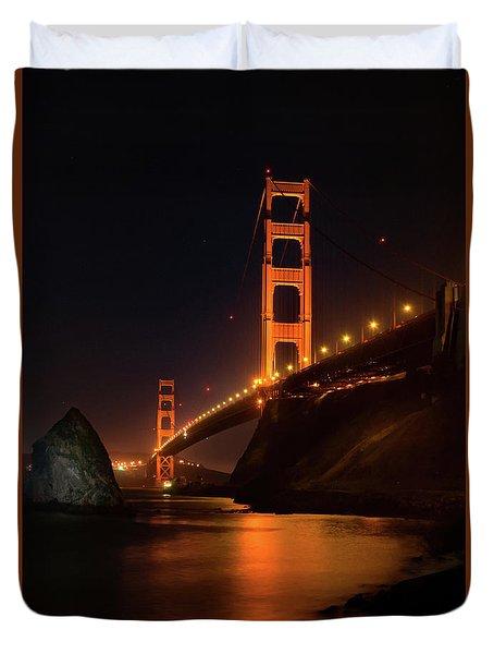 By The Golden Gate Duvet Cover
