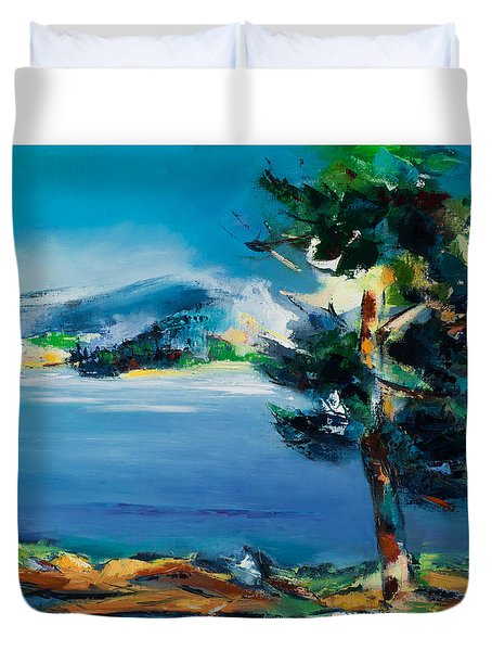By The Lake Duvet Cover by Elise Palmigiani