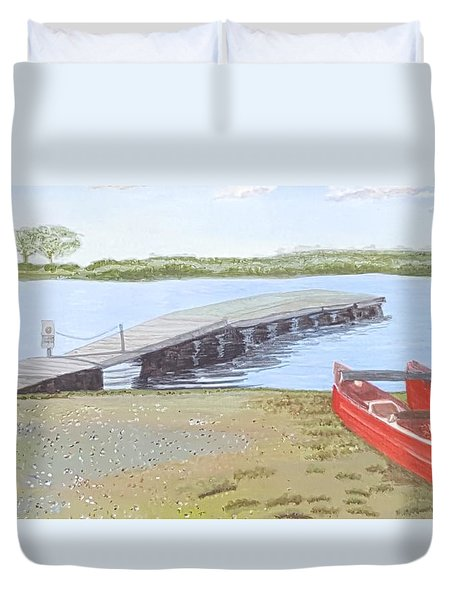 By The Lake Duvet Cover by Joanne Perkins