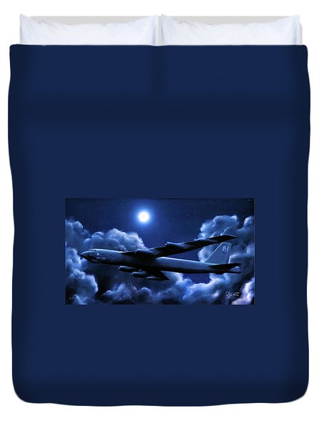 By The Light Of The Blue Moon Duvet Cover