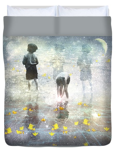 By The Light Of The Magical Moon Duvet Cover