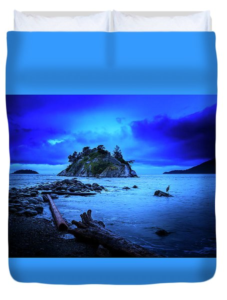 Duvet Cover featuring the photograph By The Light Of The Moon by John Poon