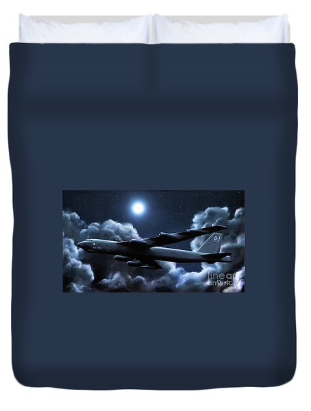 Duvet Cover featuring the painting By The Light Of The Silvery Moon by Dave Luebbert