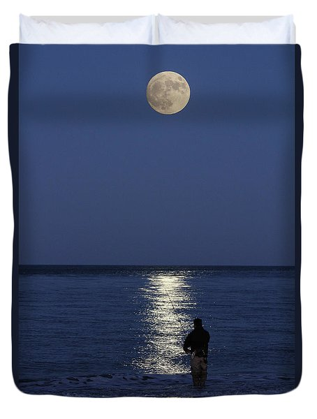 By The Light Of The Supermoon Duvet Cover