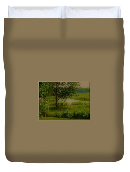 By The Little River Duvet Cover
