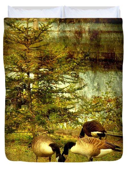 By The Little Tree - Lake Carasaljo Duvet Cover