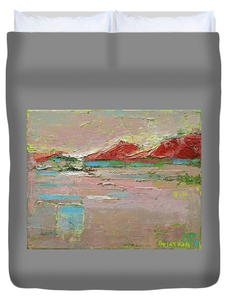 By The River Duvet Cover by Becky Kim