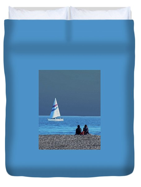 By The Sea Duvet Cover by B Wayne Mullins