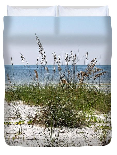 Duvet Cover featuring the photograph By The Sea by Carol  Bradley