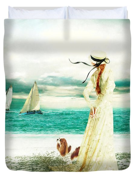 By The Sea Duvet Cover by Shanina Conway