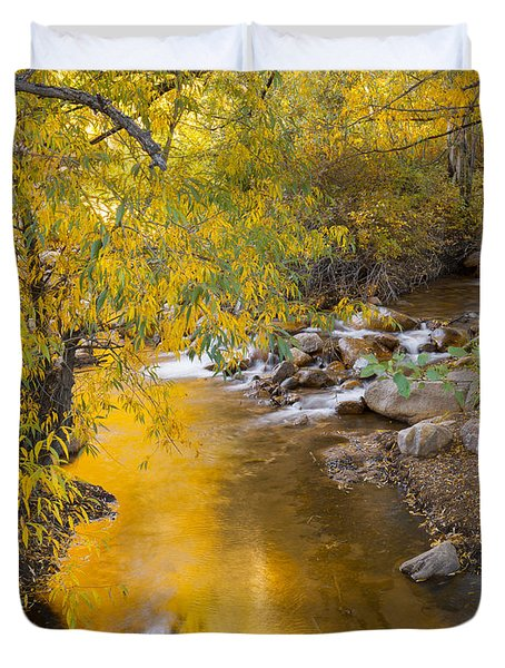 By The Shimmering Brook Duvet Cover