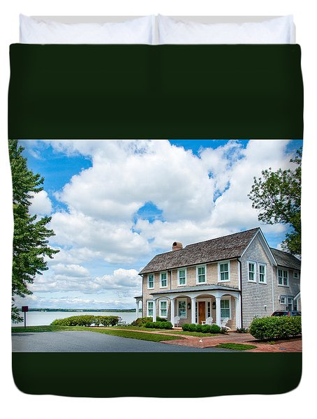 By The Water In Oxford Md Duvet Cover