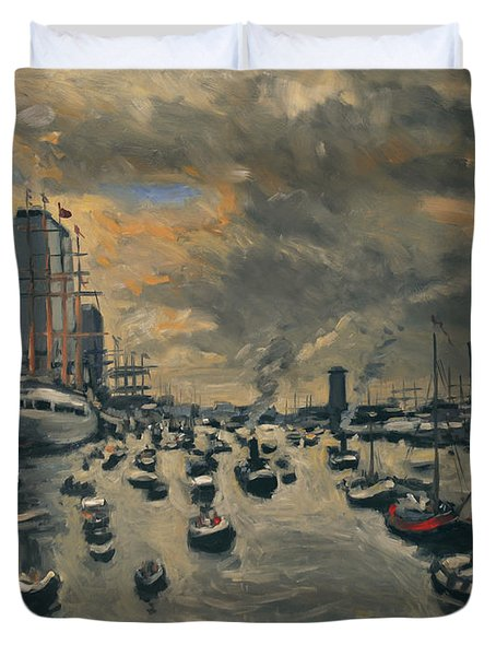 Bye Bye Sail Amsterdam Duvet Cover