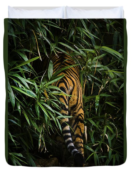 Duvet Cover featuring the photograph Bye by Cheri McEachin