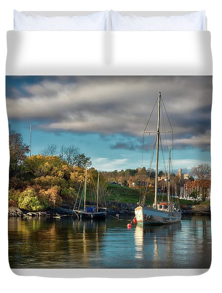 Bygdoy Harbor Duvet Cover