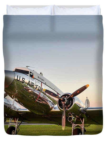 C-47 At Dusk Duvet Cover
