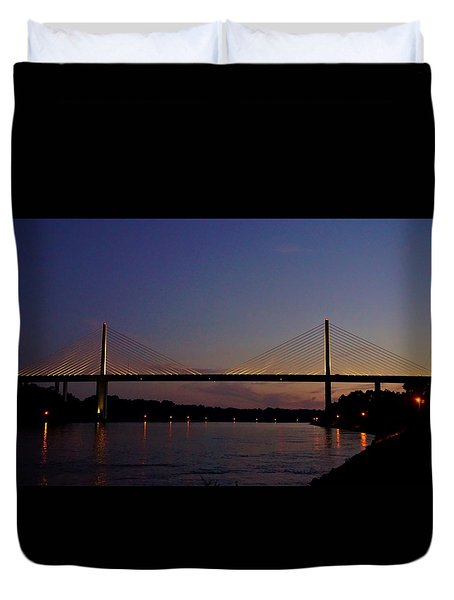 C And D Canal Bridge Duvet Cover