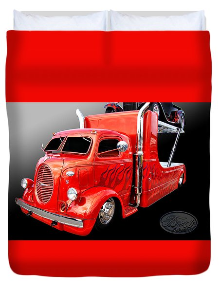 C O E Ford Hauler Duvet Cover by Bill Dutting