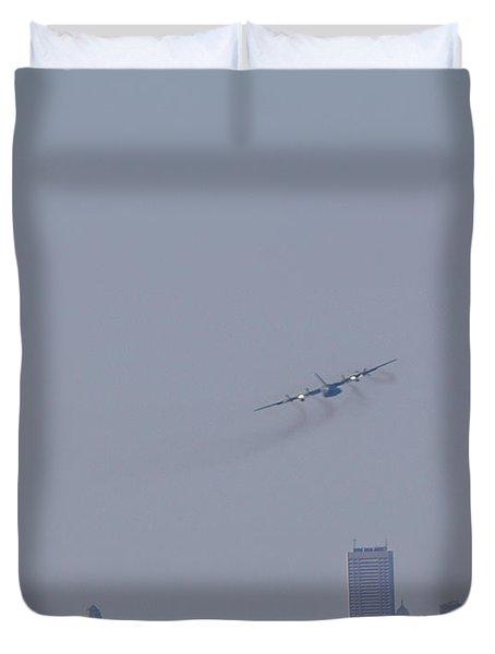 C130 Over Buffalo Duvet Cover