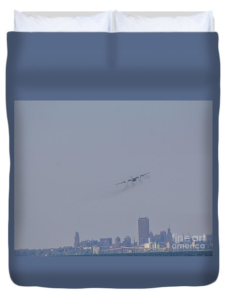 C130 Over Buffalo Duvet Cover