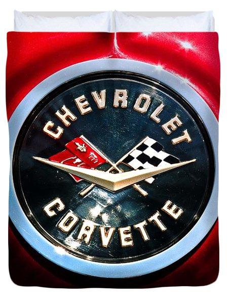 C2 Corvette Logo Duvet Cover by Scott Wyatt