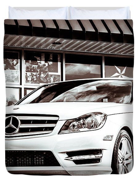 C250 In Black And White Duvet Cover