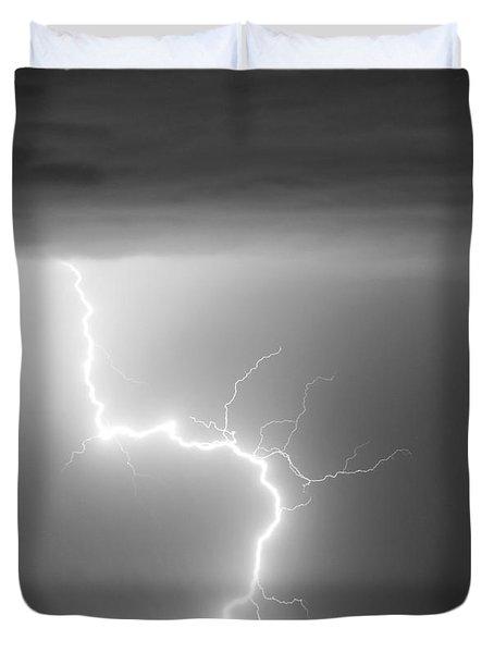 C2g Lightning Strike In Black And White Duvet Cover by James BO  Insogna