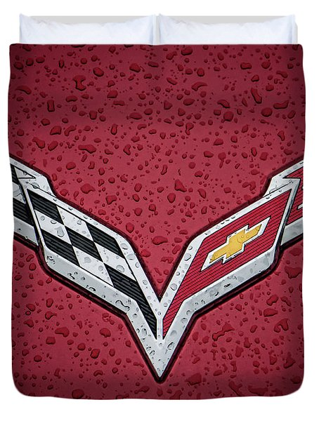 C7 Badge Red Duvet Cover