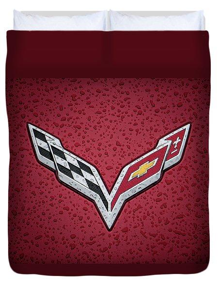 C7 Badge Red Duvet Cover