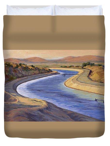 Ca Aqueduct 2 Duvet Cover by Jane Thorpe