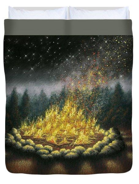 Campfire 01 Duvet Cover
